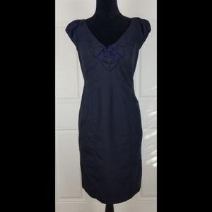 Rebecca Taylor Dress Size 8 V Neck Short Sleeve
